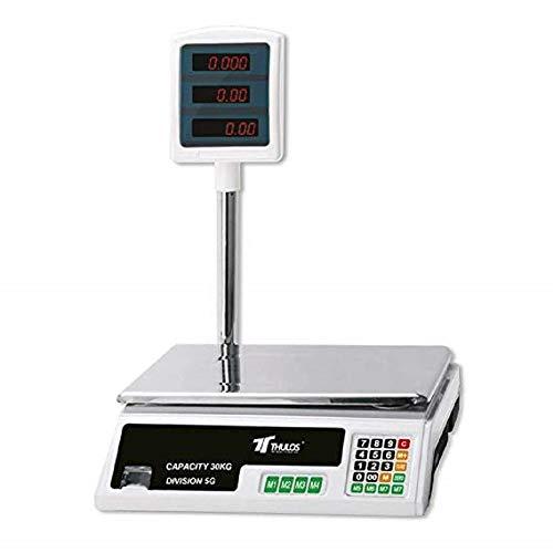 Suministros Infantes Sprechende Digital 30kg maximale Elektronische Qualität. LED. Einteilung: 5g Handel.-8Funktionen. Waage mit schwarzen, schwarzen Deckel Spannung: 110–220V. Maße: 425x 152