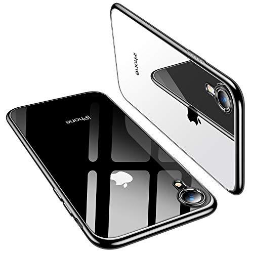TORRAS Crystal Clear Kompatibel mit iPhone XR Hülle, Transparent [Anti-Gelb] Handyhülle Schutz Weiche Silikon TPU Bumper Case Scratchproof Durchsichtige Schutzhülle für 6,1 Zoll iPhone XR - Schwarz