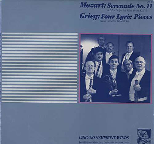 Wolfgang Amadeus Mozart / Edvard Grieg - Chicago Symphony Winds - Serenade No. 11 / Four Lyric Pieces - Sheffield Lab - LAB 22 -