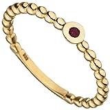 Ring Damen 8 Karat (333) Gelbgold Breite ca. 3,6 mm Rubin 1 60 (19.1)