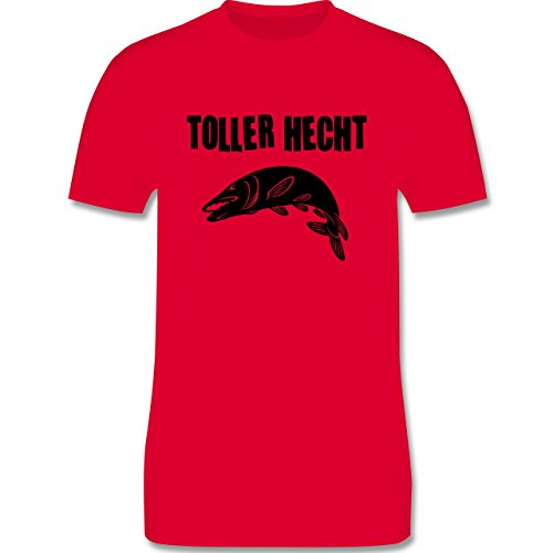 Angeln - Toller Hecht - Herren Premium T-Shirt Rot