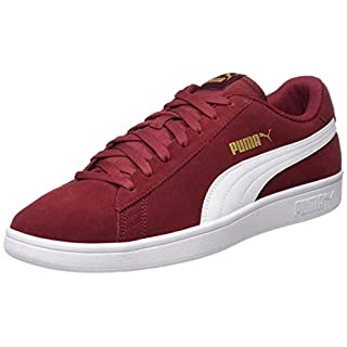 Puma Puma Smash v2, Unisex-Erwachsene Sneakers, Rot (Rhubarb-Puma Team Gold-Puma White 29), 39 EU