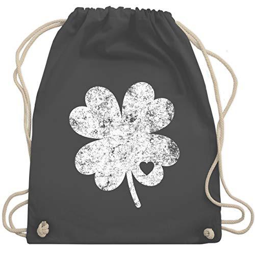 St. Patricks Day - Vintage Kleeblatt mit Herz - Unisize - Dunkelgrau - WM110 - Turnbeutel & Gym Bag