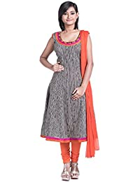 [Sponsored]Cynthia's Fashion, CFK296_COT_AK_SS_DP1, Cotton Printed, Anarkali Salwar Suit With Cotton Churidar Or Churi Leggings...