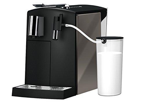 Kapselmaschine Lattensia mit Frischmilch (1455 Watt, 1,2 Liter Wassertank, Farbe Titanium)