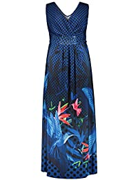 20d478db318b Ulla Popken Damen große Größen bis 64, Strandkleid, Maxi Kleid, langes Kleid  mit