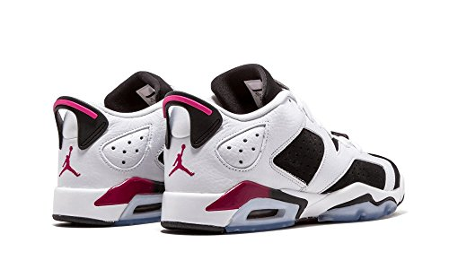 Nike Air Jordan 6 Retro Low GG, Scarpe da Corsa Bambina Bianco/viola-nero (White/Sport Fuchsia-Black)