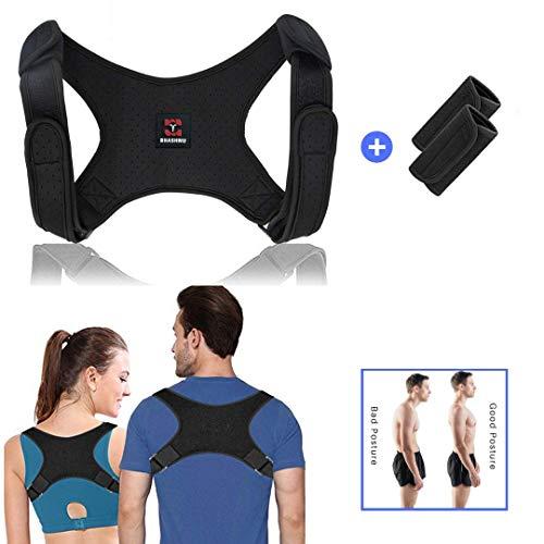 Geradehalter zur Haltungskorrektur Haltungstrainer Posture Corrector rücken korrektur rückenstütze Schultergurt Schulterschmerzen für Damen und Herren (mit 2 Schulterpolster)