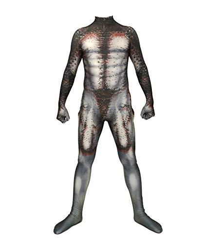 Kostüm Kinder Predator - CHXY Predator Kostüm Kind Erwachsener Dress Cosplay Verkleidung Halloween Mottoparty Strumpfhosen Karneval 3D Drucken Overall,Children-M