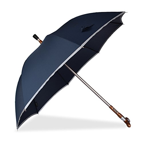 LAAN Crutches Sonnenschirm/Trennbar/mit Reflektorstreifen/Sunny Rain Dual-use/multifunktionales Bergsteigen Anti-Rutsch-Outdoor-Outdoor-Walking-Gehhilfe (Farbe : Blau)