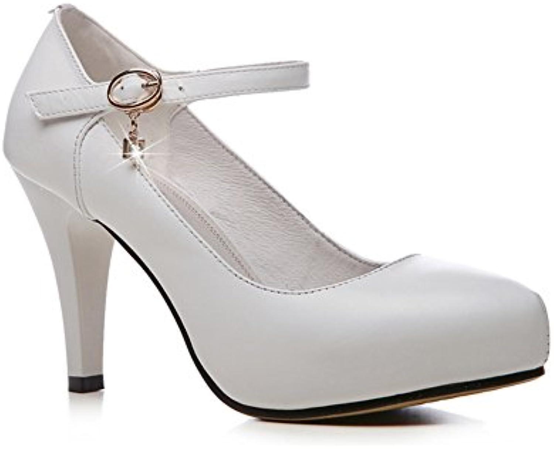 XUERUI Shi Shi Shi Paiwei boucle en cuir avec des chaussures bouche peu profonde imperméable chaussures à talons hauts...B07C8GP8JBParent 2b2121