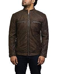 Amazon.it  camoscio giacca - Marrone   Giacche e cappotti   Uomo ... bc0faefd131