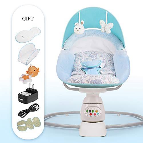 Baby Schaukel Stuhl Baby Elektrische Wiege Schaukel Stuhl Deck Stuhl Befrieden Baby der Magie Gerät Schlaf In Die Neugeborenen Wiege,Blue