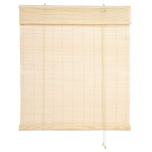 WR-Design Bambusrollo Bambus Raffrollo Natur Breite 60-140 cm Länge 160 und 240 cm Seitenzug Fenster Tür Rollos Holzrollo (60 x 160 cm)