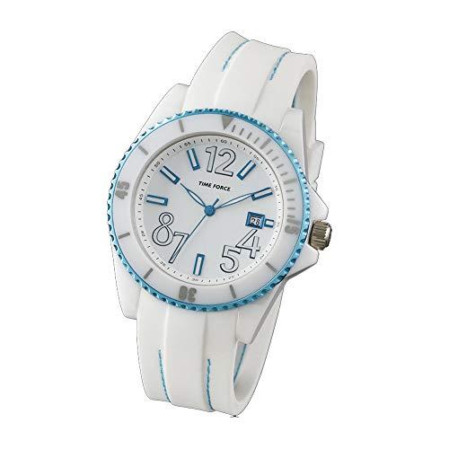 Time Force Reloj Analógico para Mujer de Cuarzo con Correa en Caucho TF4186L03