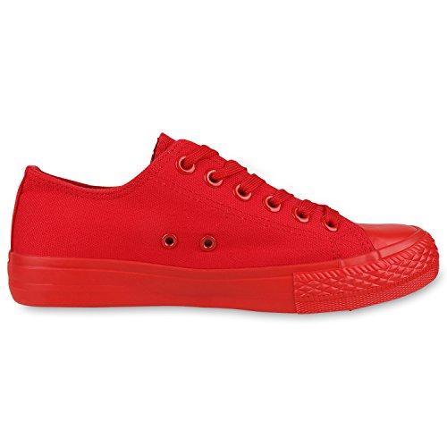 best-boots Damen Turnschuh Sneaker Slipper Halbschuhe sportlich Rot Rosso Nuovo
