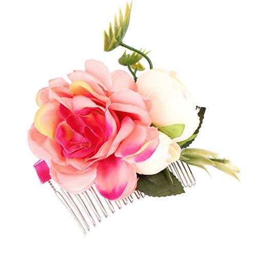 wanfor Brautschmuck Blumen Haar Clip Mädchen Frauen Fascinator Haarspange Haarspange Haarkamm für Hochzeit Party Ornaments - Kostüm Valentine Kinder