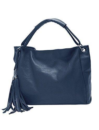 allegra-k-mujer-borlas-adornado-con-textura-piel-artificial-bolso-hundido-azul-real-one-size