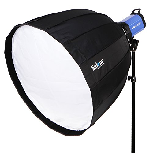 Selens 90cm 16 Rods Deep Parabol Softbox Schnell Abbau Schirm für Fotografie Fotostudio Blitz Beleuchtung(Bowen Mount)