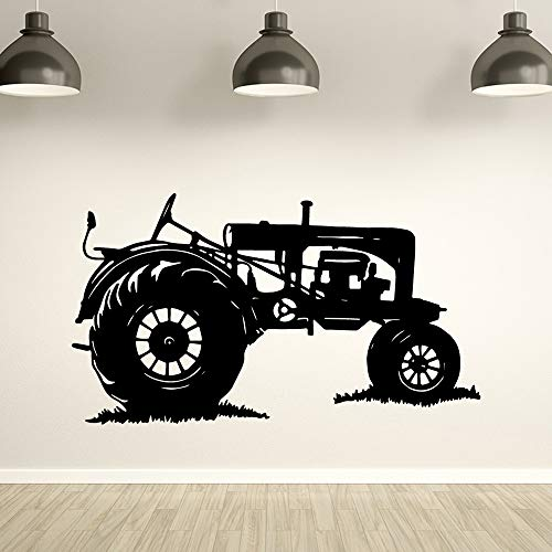 TYLPK Klassische Traktor Wandaufkleber Steuern Dekor Für Jungen Zimmer Aufkleber Schlafzimmer Wandtattoo Removable Home Decoration Tapete Weiß M 30 cm X 53 cm