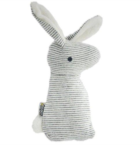 OCHO8 Mascota conejo juguete de peluche, juguete con sonido para perros y gatos