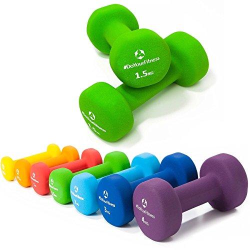 Neopren-Hanteln »Peso« Kurzhanteln in verschiedenen Gewichts- und Farbvarianten / 1.5kg, grün