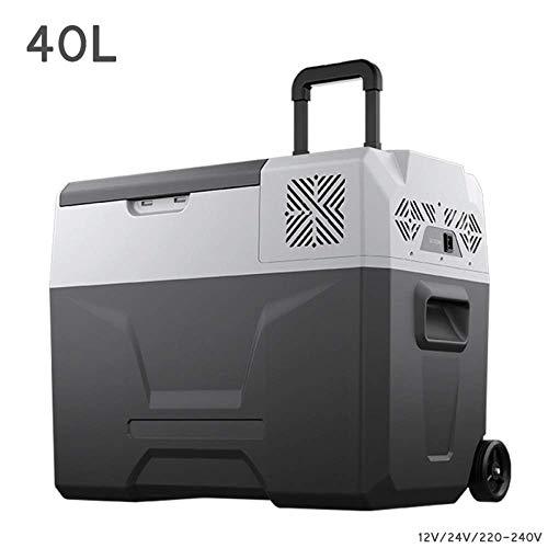 Refrigerador del automóvil de 40L Compresor Congelador- Caja fría Camión frigorífico para acampar 24V / 12V / 220-240V (40L) Mini refrigeradores para deportes al aire libre Tour en casa Viajes Picnics