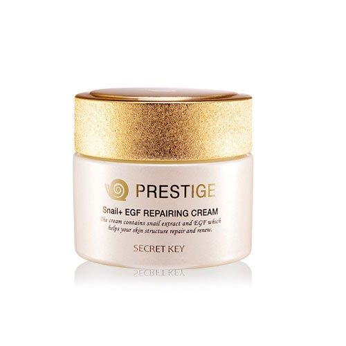 Secret Key - Best Snail Prestige Cream - Anti Falten Creme gegen Aging und Fältchen - Gesichtscreme mit Schneckenschleim und EGF für die tägliche Hautpflege - Gesichtsmasken und Gesichtskuren - Tagespflege - Nachtpflege - Hals- und Dekolletépflege