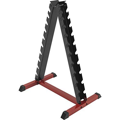 GORILLA SPORTS® Hantelständer für Kurzhanteln mit 20 Ablagen - Rack vertikal bis 150 kg belastbar