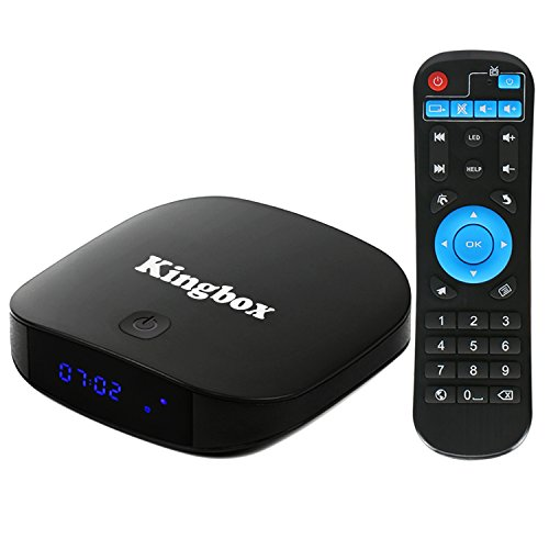 Kingbox K2 Android 7.1 TV Box 2GB RAM + 16GB ROM Quad Core Bluetooth 4.0/ H.265/ LAN 100/ Wifi 2.4Ghz/ H.265/ SPDIF Unterstützt 4K Full HD Smart TV Box