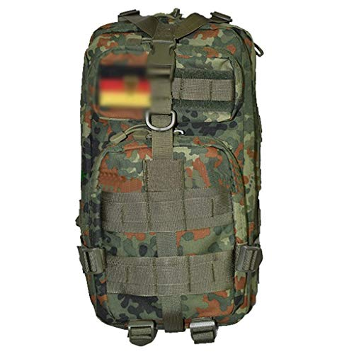 Mochila de camuflaje de la selva, mochila táctica de 25 litros para hombres y mujeres Mochila de combate de asalto del ejército general Mochila para acampar al aire libre Pesca de montaña Mochila de s