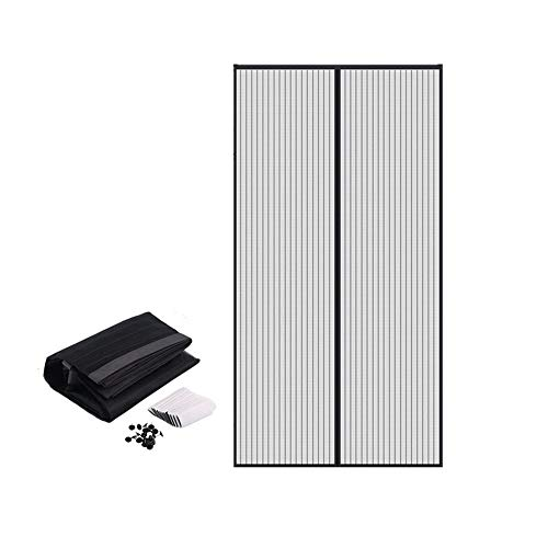 Magnet Fly Screen Door Insect Screen 100x210cm, Automatic Closing with Heavy Duty Mesh, for the Balcony door, Cellar door and Patio door, Easy Adhesive Mounting without Drilling