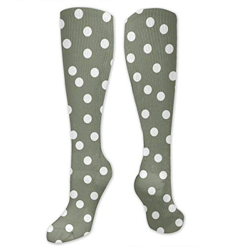Camo Wool (Sport Compression Socks,Dots Polka Dot Spot Green Camo Athletic Socks,Long Tube Stockings 50cm/19.7 In)