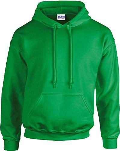 Gildan - Felpa spessa con cappuccio Irish Green