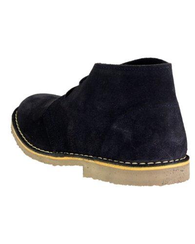 Cotswold Mens Kalahari Lace Up Suede Leather Desert Boots Navy Bleu - Bleu marine