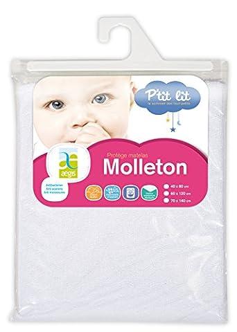 P'tit Lit potège matelas molleton Aegis® 60x120, Blanc