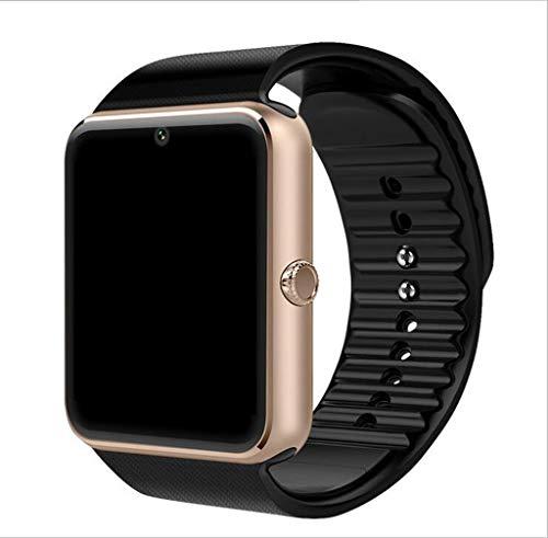 UTHDELD Smartwatch Intelligente Uhr für Apple Watch-Mann-Frauen-Android-Armbanduhr Intelligente Elektronik Smartwatch mit Kamera-SIM-TF-Karte, Silber, mit Kleinkasten