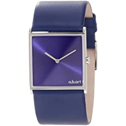 a.b. art Damen E109 Series E Stainless Steel Swiss Quartz Blue Dial and Leather Strap Uhr
