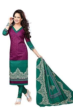 AMP IMPEX Unstitched Printed Cotton Dress Materials Fabrics