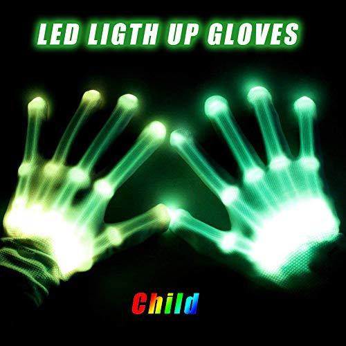TBDLG Led Handschuhe, Handschuhe Spielzeug Für Modus Blinkende Handschuhe Halloween Karneval Weihnachten Kinder Mädchen (Mod Mädchen Für Erwachsene Kostüm)
