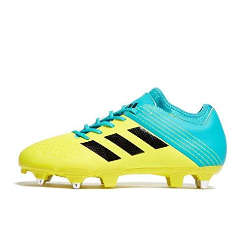 adidas Malice Elite (SG), Scarpe da Rugby Uomo, Giallo (Amasho/Negbás/Agalre 000), 42 EU