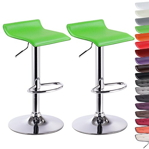 woltu bh11gn 2 set green faux leather bar stools gas lift swivel bar kitchen breakfast stools chairs adjustable seat height cm