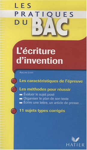 L'criture d'invention