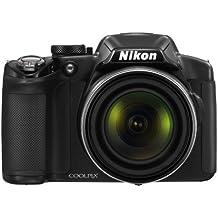 """Nikon Coolpix P510 Fotocamera Digitale Compatta, 16,1 Megapixel, Zoom 42X, 3200 ISO, LCD 3"""" orientabile, colore: nero [Versione EU]"""