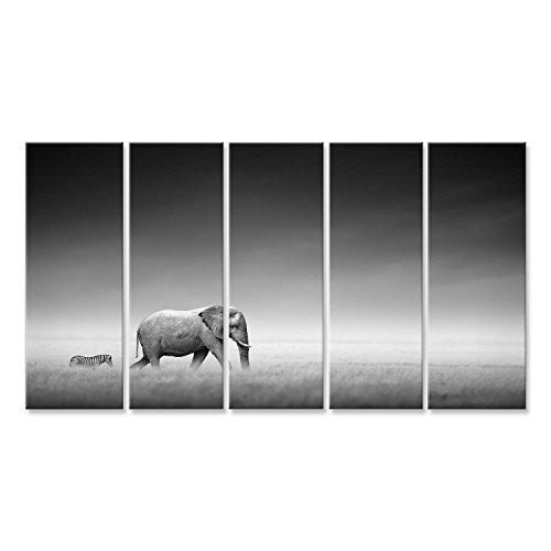 Cuadro Cuadros Impresión sobre lienzo - Formato Grande - Cuadros modernos Elefantes...
