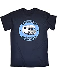99e81c1f 123t Men's Adventure Before Dementia Caravan T-Shirt Birthday Funny Gift  for him for Her