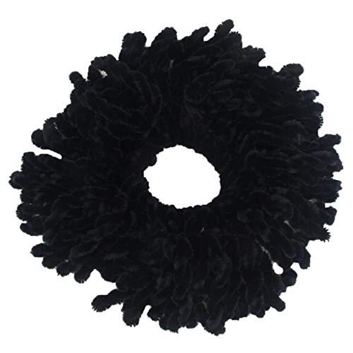 Tensay Bunte Haarbänder Haargummis Haar Scrunchies Elastische Haarbänder Volumizing Scrunchie Big Tiara Haarschmuck Ring Gummiband Hijab für Frauen Make Up Werkzeug Marine Telefonkabel