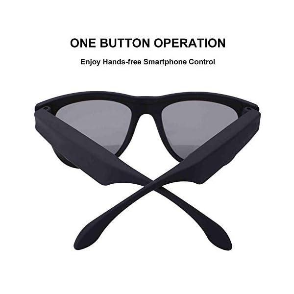 Auriculares Estéreo, Auriculares Bluetooth Gafas De Sol Música Auricular Sin Manos De Conducción Gafas Deportivas… 2