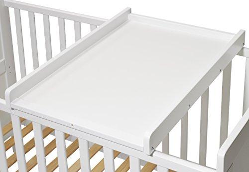 KOKO- Wickelbrett | Wickeltisch | Wickelaufsatz für Betten 140x70 und 120x60 cm, weiss