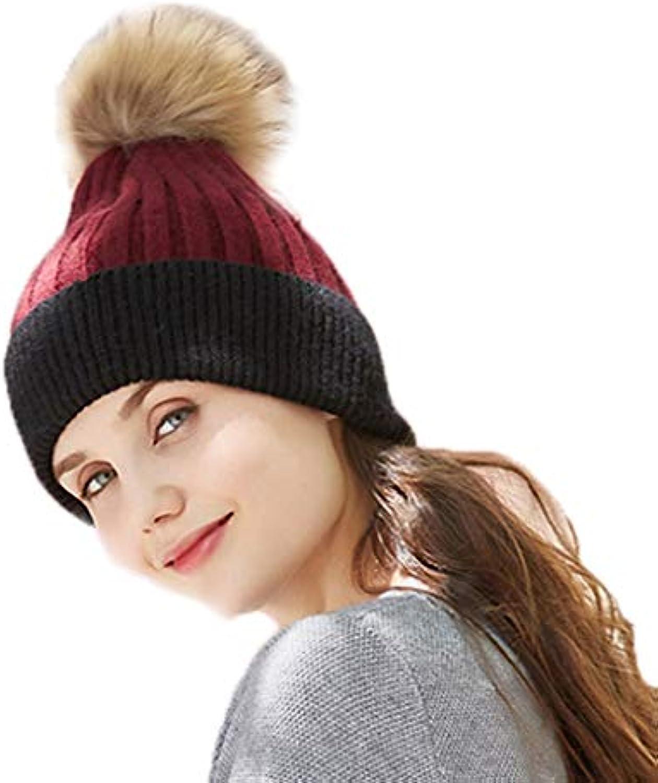 Berretti in maglia maglia in Cappello da Donna Cappello di Lana Cappello A  Fagiolo Cappello Impilato f28167c33d2d